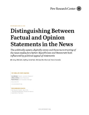 Distinguishing Between Factual and Opinion Statements in the News