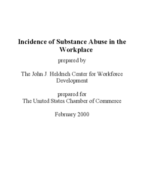 Incidence of Substance Abuse in the Workplace