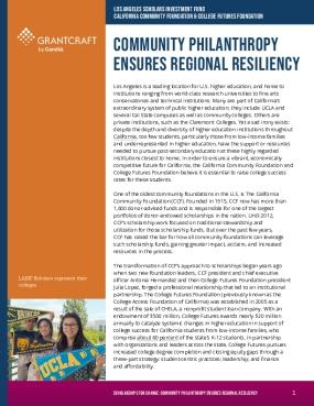 Community Philanthropy Ensures Regional Resiliency