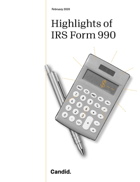 Highlights of IRS Form 990