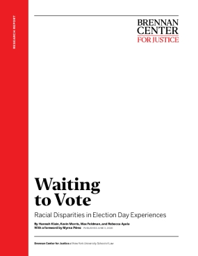 Waiting  to Vote : Racial Disparities in Election Day Experiences