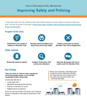 Brooklyn Park: Improving Safety and Policing - Infographic