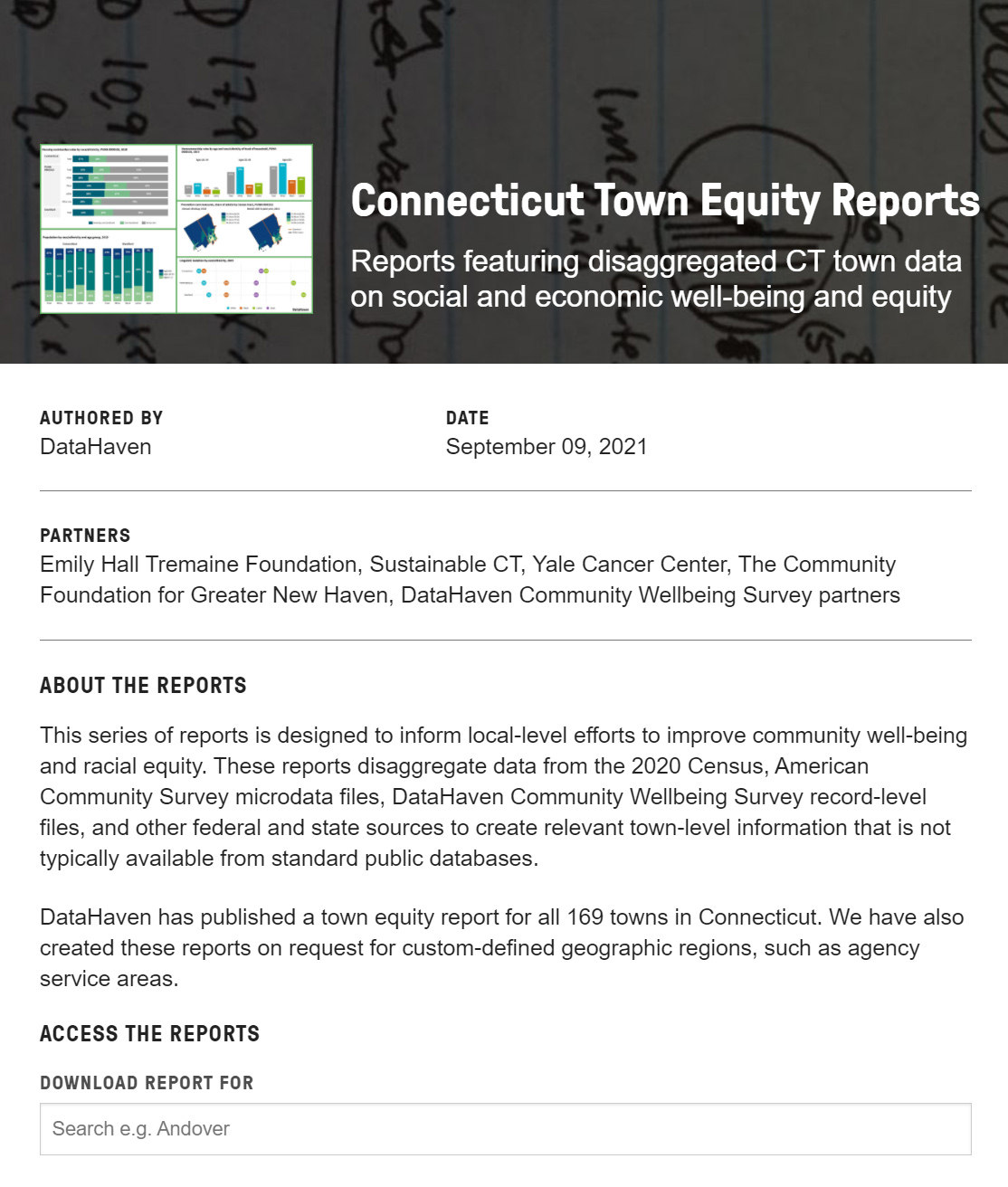 Connecticut Town Equity Reports