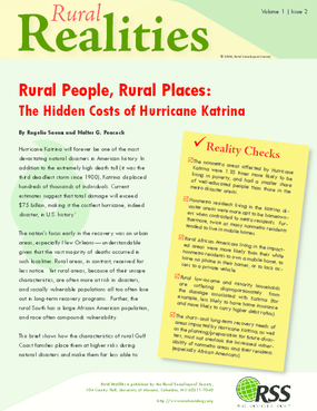 Rural People, Rural Places: The Hidden Costs of Hurricane Katrina